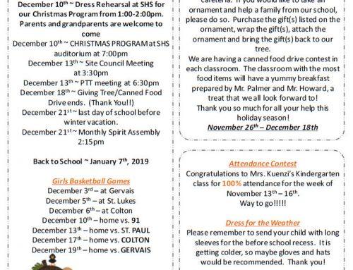 Little Bits for 11-29-18 Ingles y Espanol