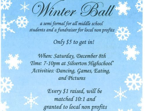 Winter Ball for Middle School Students December 8