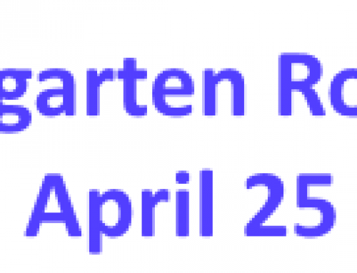 Kindergarten Roundup April 25