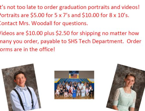 Graduation Portraits and Videos Still Available to Order