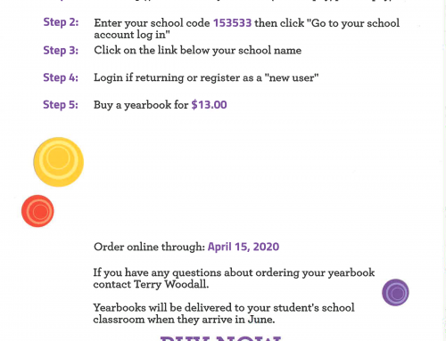 It's not too soon to order your yearbooks!