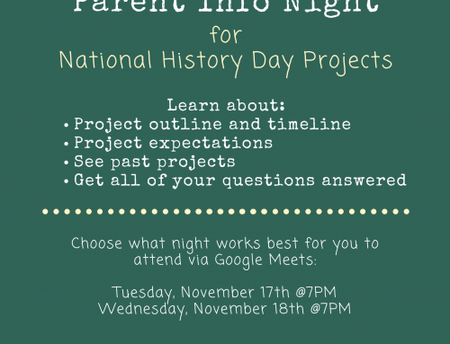 History Day Information Night – November 17 or 18